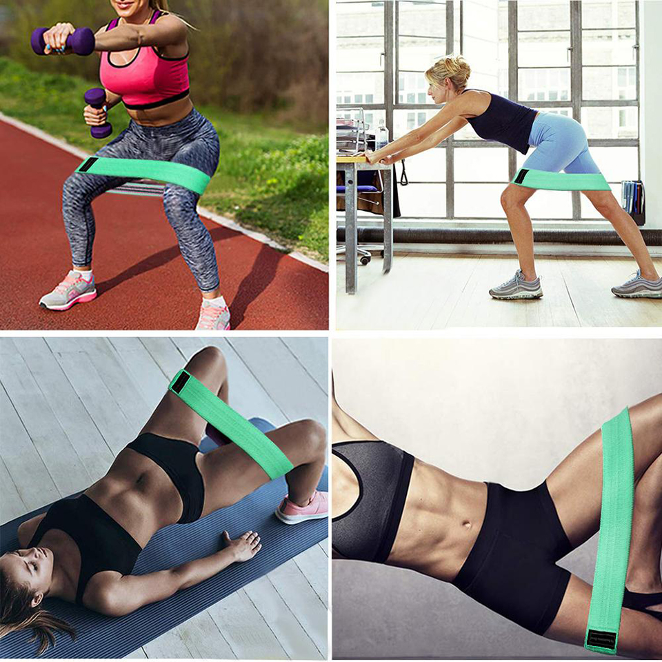 Workout Fitness Hip Loop Resistance Bands Product Functions