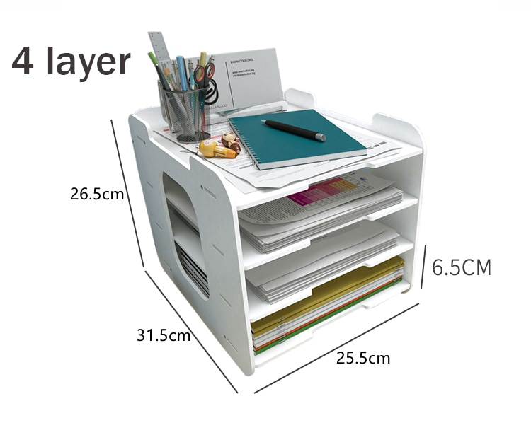 5 Layers Multifunction Document Trays Product Size
