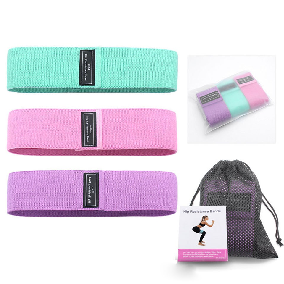 Workout Fitness Hip Loop Resistance Bands Product Package