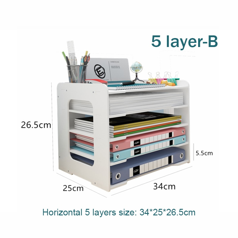 5 Layers Multifunction Document Trays Product Size 2