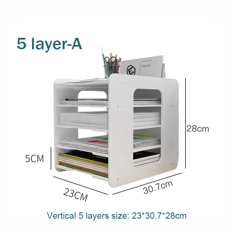5 Layers Multifunction Document Trays Product Size 1